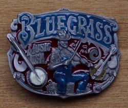 """Muziek gesp  """" Blue grass music usa """""""