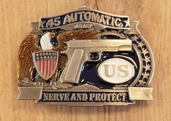 "Belt buckle  ""  45 Automatic ""   UITVERKOCHT"
