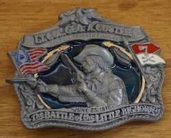 "Belt buckle  ""  The Battle of the little bighorn """