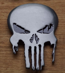"Belt buckle  "" The Punisher ""  Zilver"