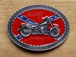 """Buckle / gesp  """" Motor op rebelvlag """""""