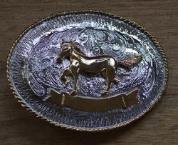 """Losse buckle  """" Paard """"  Zilver- / goud kleurig"""