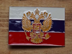 """Oude vlag van Rusland """" Het wapenschild van de Tsaar """""""