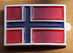 """Gesp buckle  """" Vlag Noorwegen """""""