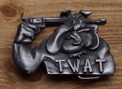 """Humor gesp  """" Twat """"  Hond"""