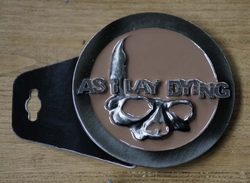 "Muziekband buckle  "" As i lay dying """