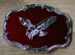 """Siergesp  """"Vliegende adelaar  """"  Rood / zilver  UITVERKOCHT"""
