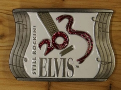 "Elvis buckle  "" Elvis ""  Still Rockini    Wit"