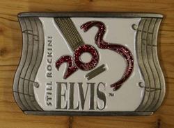 """Elvis buckle  """" Elvis """"  Still Rockini    Wit"""