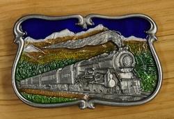 """Siergesp  """" Stoom locomotief in berg landschap """""""