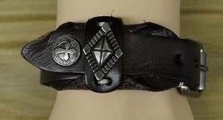 """Leren armband  """" Concho's """"   Bruin"""