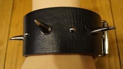 Leren armband met gesp