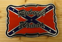 """Buckle / gesp  """" Redneck woman """"  rebelvlag"""