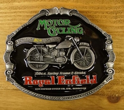 "Motor cylce buckle  "" Royal Enfield """