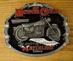 "Motor cylce buckle  "" Matchless """
