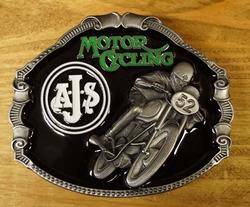 "Motor cylce buckle  "" AJS """
