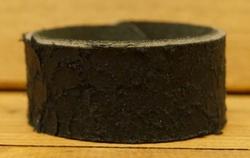"""Leren armband   """" Zwart met structuur """""""