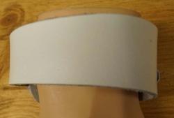 Schuine leren armband