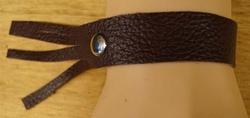 Leren armband met franjes