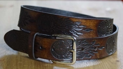 "Buckle riem  "" Live to ride  ""  Donker bruin"