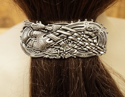 "Haarclip  "" Celtic dragon """