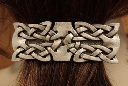 "Haarclip  "" Celtic two knots """