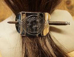 """Haarspeld met haarstokje  """" Triskelion  """""""