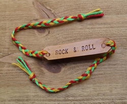 "Leren armband  ""  Rock & roll """