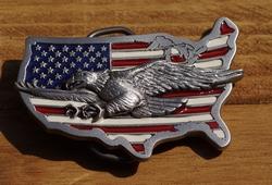 """Siergesp  """" Adelaar op Americaanse vlag """""""