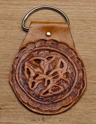 "Sleutelhangers van leer  "" Celtic knot ""  Tan"