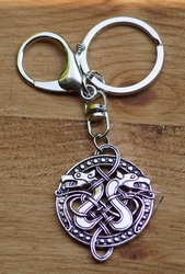 "Sleutelhanger  "" Two celtic snake  """
