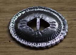 """Slotted concho  """" Ovaal ( 7 ) """"   Zilver kleurig"""