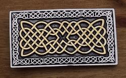 """Keltische buckle / gesp  """" Eindeloze Knoop  """" Zilver-/goudkl"""