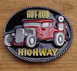"""Muziek gesp  """" Hot rod highway """""""