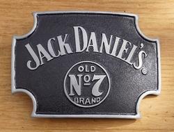 """Belt buckle   """" Jack Daniel's  old no 7 brands """"  Zwart"""