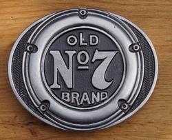 """Belt buckle   """" Old brands no 7  """"   Jack Daniels"""