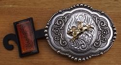 """Wrangler buckle  """" Rodeo rider """"   Zilver- / goudkleurig"""