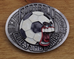 "Sport buckle  "" Football rules the world """