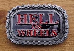 "Buckle / gesp  "" Hell on wheels ""  ketting"