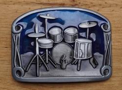 "Muziek gesp  "" Drumstel  ""  Blauw"