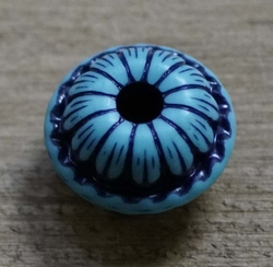 "Kraaltje  "" Rond ( 1 ) ""  Zwart / blauw"