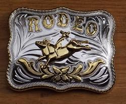 """Buckle / gesp  """" Rodeo """"   Zilver- / goudkleurig UITVERKOCHT"""
