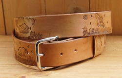 "Buckle riem ""  Landschap mountain ""  Tan"