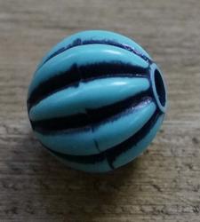 "Kraaltje  "" Rond  ""  Zwart / blauw"