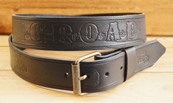 "Buckle riem ""  King - Road ""  Zwart"