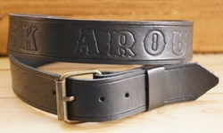 "Buckle riem ""  Rock around the clock ""  Zwart"