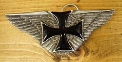 """Buckle / gesp """" Maltezer kruis op vleugels """""""