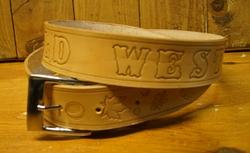 """Buckle riem """"  Old western style """"  Beige"""