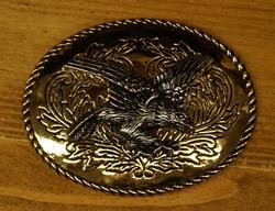 """Siergesp  """" Landen adelaar """"  Goud- / zilverkleurig"""