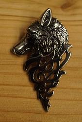 """Speldje  """" Wolf """"  Zilverkleurig  UITVERKOCHT"""